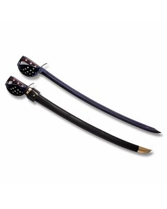 """Cold Steel Knives 1917 Saber with Rosewood Handle and Blued Coated 1055 Carbon Steel 31"""" Saber Blade with Black Leather Scabbard Model 88CSSN"""