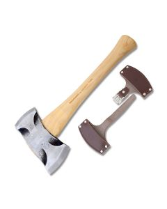 Council Tool Velvicut Premium Saddle Axe with American Hickory Handle and 5160 Steel Axe Head Model JP20-2SA16