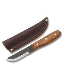 """Condor Bushcraft Basic Heavy Duty Work Knife with Hardwood Handle and 1075 Carbon Steel 2"""" Drop Point Blade Model #60002/CTK236-4HC"""