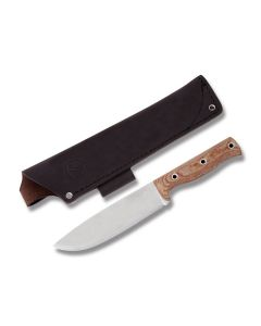 "Condor Low Drag Fixed Blade with Micarta Handles and Polished Finish 1075 High Carbon Steel 6.58"" Clip Point Plain Edge Blades Model 62716/CTK2814-6.5HC"