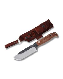 "Condor Tool and Knife Selknam Fixed Blade with Tan Micarta Handles and Condor Classic Finish 1075 High Carbon Steel 5"" Drop Point Plain Edge Blades Model 63821/CTK3921-5.1HC"