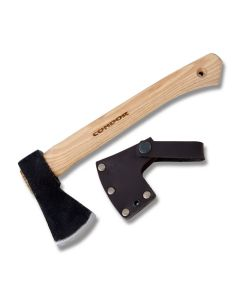 Condor Tool and Knife Mini Greenland Hatchet with American Hickory Handles and Condor Classic 1060 High Carbon Steel Axe Head Model 63830/CTK3930-0.77