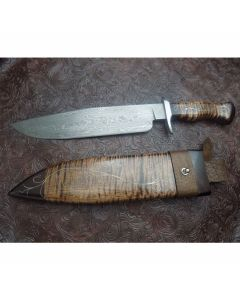 Sam Stoner Outback Forge Custom Damascus Bowie Maple