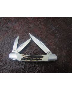 Murray Sterling whittler pocket knife 2.875 inches with beautiful stag handles ATS-34 stainless steel blades plain blade edges