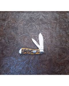 Tony Bose custom 2 blade dogleg jack knife 3 5/8 inch with bone handles ATS34 stainless steel blades plain blade edges