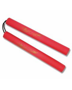 "Master Cutlery 12"" Red Foam Padded Dragon Nunchaku Model 801-R"