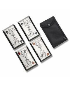 Master Cutlery 4 Piece Throwing Card Set with Dark Joker Graphics Model FMT-024