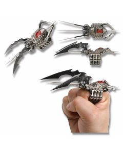 Master Cutlery Fantasy Spider Ring Knife with Black Coated Stainless Steel Blades and Cast Metal Ring Construction Model FMT-029