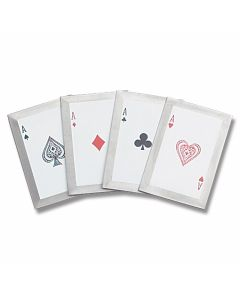 Master Cutlery 4 piece Throwing Card Set with Four of a Kind Ace Graphics Model JL-4A