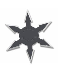 "Master Cutlery 4"" Diameter 6 Point Throwing Star with Black Stainless Steel Construction Model JL-SB3"