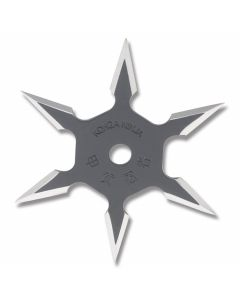 "Master Cutlery 4"" Diameter 6 Point Throwing Star with Black Stainless Steel Construction Model JL-SB4"