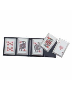 Master Cutlery 5 Piece Throwing Card Set with Royal Flush Heart Graphics Model JL-SS5R