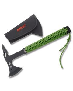 MTech Tactical Axe with Green Cordwrapped Handle