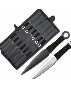 "Naruto 8-1/2"" Kunai Uzumaki Throwing Knives Set of"