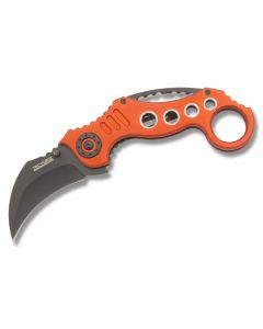 Tac Force Tactical Spring Assisted Karambit Stainless Steel Blade Red Aluminum Handle