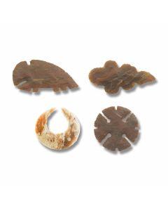 Chipped Flint Eccentric Arrowhead Set of 4