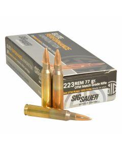 Sig Sauer Elite Performance 223 Remington 77 Grain Open Tip Match 20 Rounds