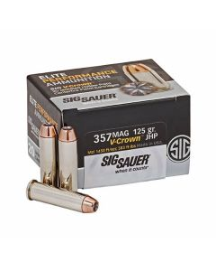 Sig Sauer Elite Performance 357 Magnum 125 Grain V-Crown Jacketed Hollow Point 20 Rounds