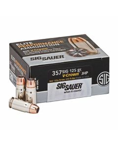 Sig Sauer Elite Performance 357 Sig 125 Grain V-Crown Jacketed Hollow Point 20 Rounds