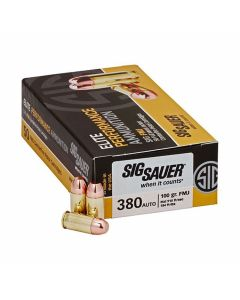 Sig Sauer Elite Performance 380 ACP 100 Grain Full Metal Jacket 50 Rounds