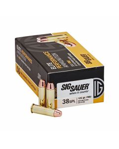 Sig Sauer Elite Performance 38 Special 125 Grain Full Metal Jacket 50 Rounds