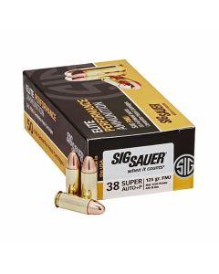 SIg Sauer Elite Performance 38 Super +P 125 Grain Full Metal Jacket 50 Rounds