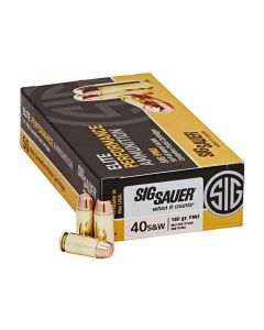Sig Sauer Elite Performance 40 S&W 180 Grain Full Metal Jacket 50 Rounds
