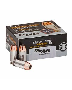 Sig Sauer Elite Performance 45 ACP 200 Grain Jacketed Hollow Point 20 Rounds