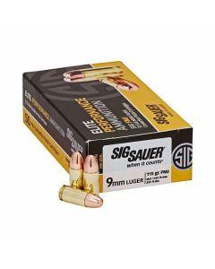 SIg Sauer Elite Performance 9mm Luger 115 Grain Full Metal Jacket 50 Rounds