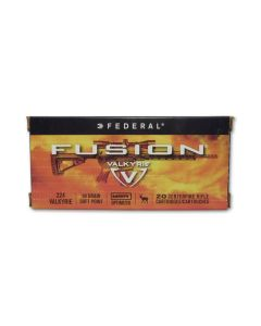 Federal Fusion MSK 224 Valkyrie 100 Grain Spitzer Boat Tail 20 Rounds
