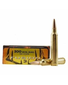Federal Fusion 300 Win Magnum 165 Grain Bonded Spitzer Boat Tail 20 Rounds