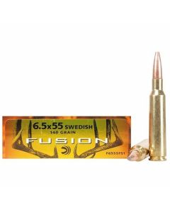 Federal Fusion 6.5X55 Swedish 140 Grain Jacketed Soft Point 20 Rounds
