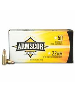 Armscor USA 22 TCM 40 Grain Jacketed Hollow Point 50 Rounds