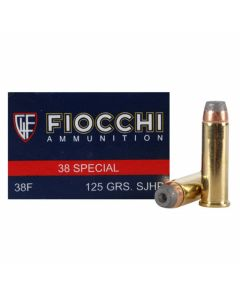 Fiocchi Shooting Dynamics 38 Special 125 Grain Semi-Jacketed Hollow Point 50 Rounds