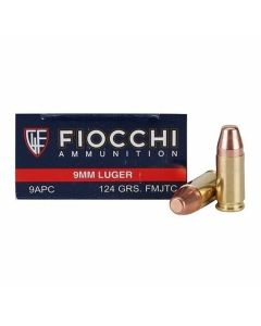 Fiocchi Shooting Dynamics 9mm Luger 124 Grain Full Metal Jacket 50 Rounds
