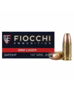 Fiocchi Shooting Dynamics 9mm Luger 147 Grain Jacketed Hollow Point 50 Rounds