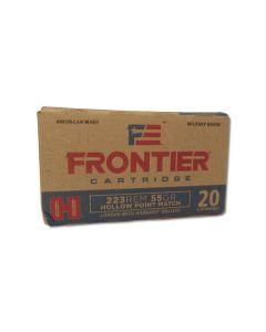 Hornady Frontier Cartridge 223 Remington 55 Grain Hornady Hollow Point Match 20 Rounds