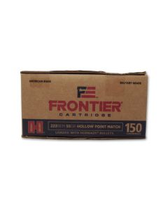 Hornady Frontier Cartridge 223 Remington 55 Grain Jacketed Hollow Point 150 Rounds