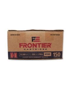 Hornady Frontier Cartridge 5.56x45 NATO 55 Grain Full Metal Jacket 150 Rounds