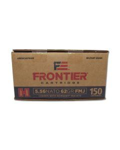 Hornady Frontier Cartridge 556 Nato 62 Grain Full Metal Jacket 150 Rounds