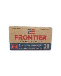 Hornady Frontier Cartridge 5.56x45mm NATO 62 Grain Spire Point 20 Rounds
