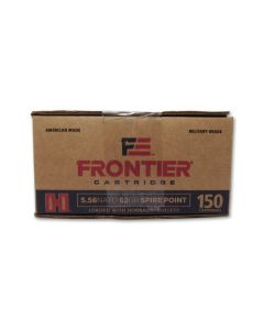 Hornady Frontier Cartridge 5.56 NATO 62 Grain Spire Point 150 Rounds