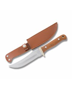 Frost Cutlery Buck Creek Skinner with Rosewood Handles and Stainless Steel Clip Point Plain Edge Blades Model BC-21RW