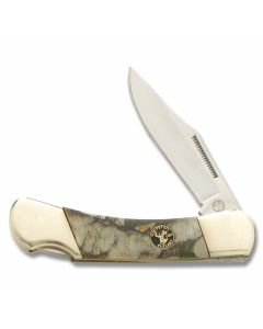 "Frost Cutlery Whitetail Cutlery Warrior Lockback 3.50"" with Next G1 Vista Camo Handles and Stainless Steel Plain Edge Blades Model CP-123VISTA"