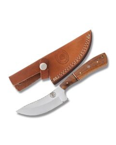 Frost Cutlery Chipaway Cutlery Skinner Stainless Steel Blade Brown Wood Handle