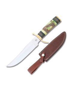 Frost Cutlery Chipaway Cutlery Flying Crow Bowie Stainless Steel Blade Carved Bone Handle