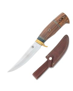 Frost Cutlery Chipaway Cutlery War Eagle I Stainless Steel Blades Brown Wood Pakkawood Handle