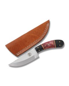 Frost Cutlery Chipaway Cutlery Skinner Stainless Steel Blade Buffalo Horn/Red Bone Handle