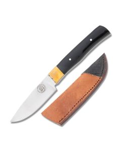 Frost Cutlery Chipaway Cutlery Little Fox Hunter Stainless Steel Blade Buffalo Horn Handle