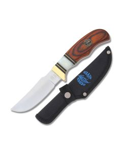"Frost Cutlery Ocoee River Skinner 8"" with Synthetic Pear and Pakkawood Handle and Stainless Steel Full Tang Blade Model OC-157"